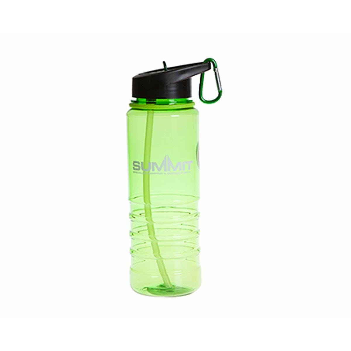 Summit Water Bottle with Carabiner 700ml Green