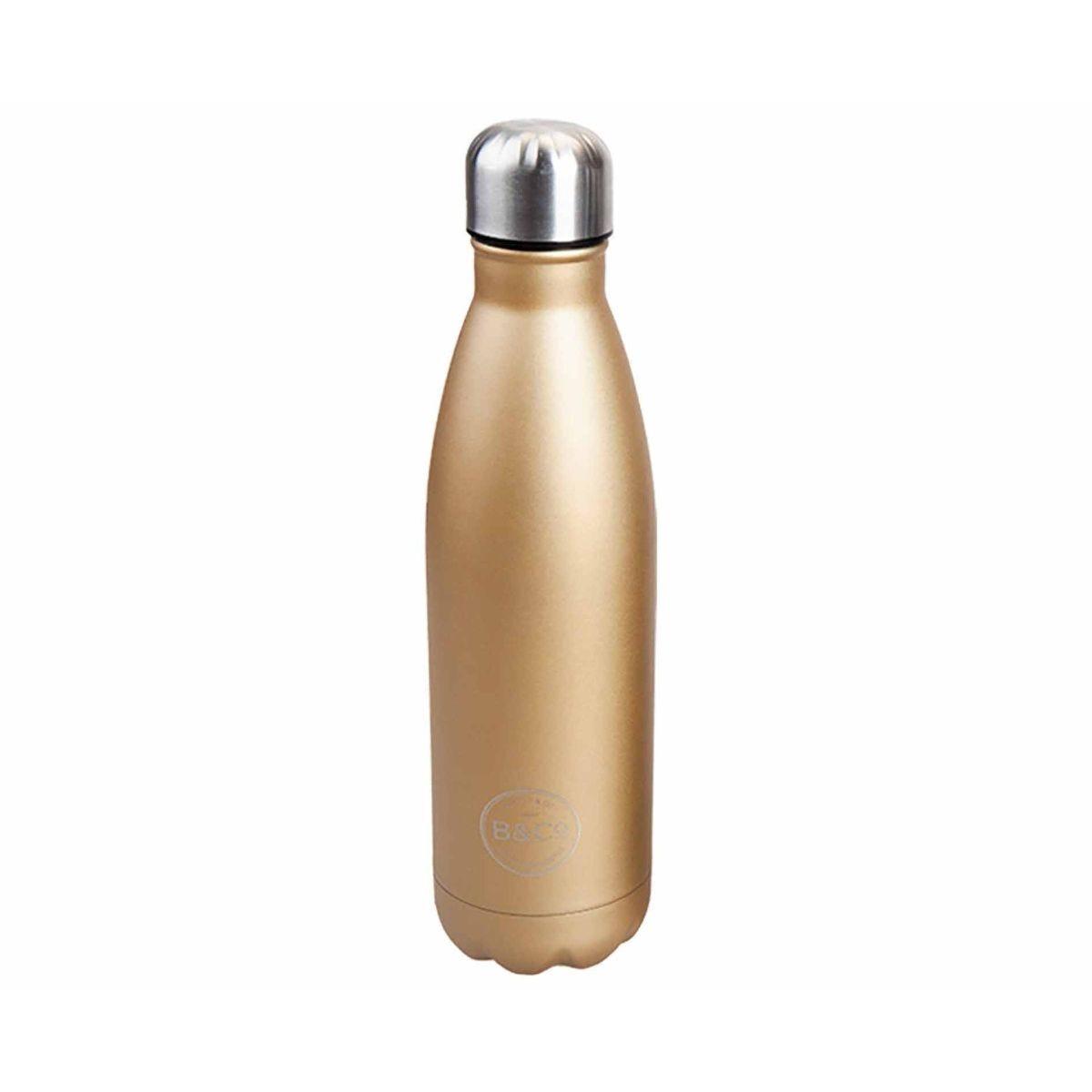 B and Co Hamelin Bottle Flask 500ml Gold
