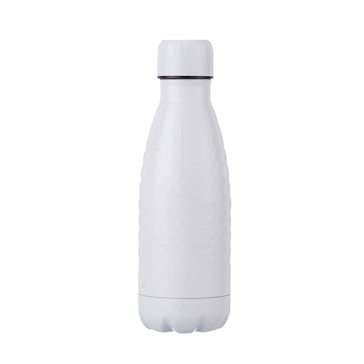 B and Co Honeycomb Stainless Steel Bottle 350ml White