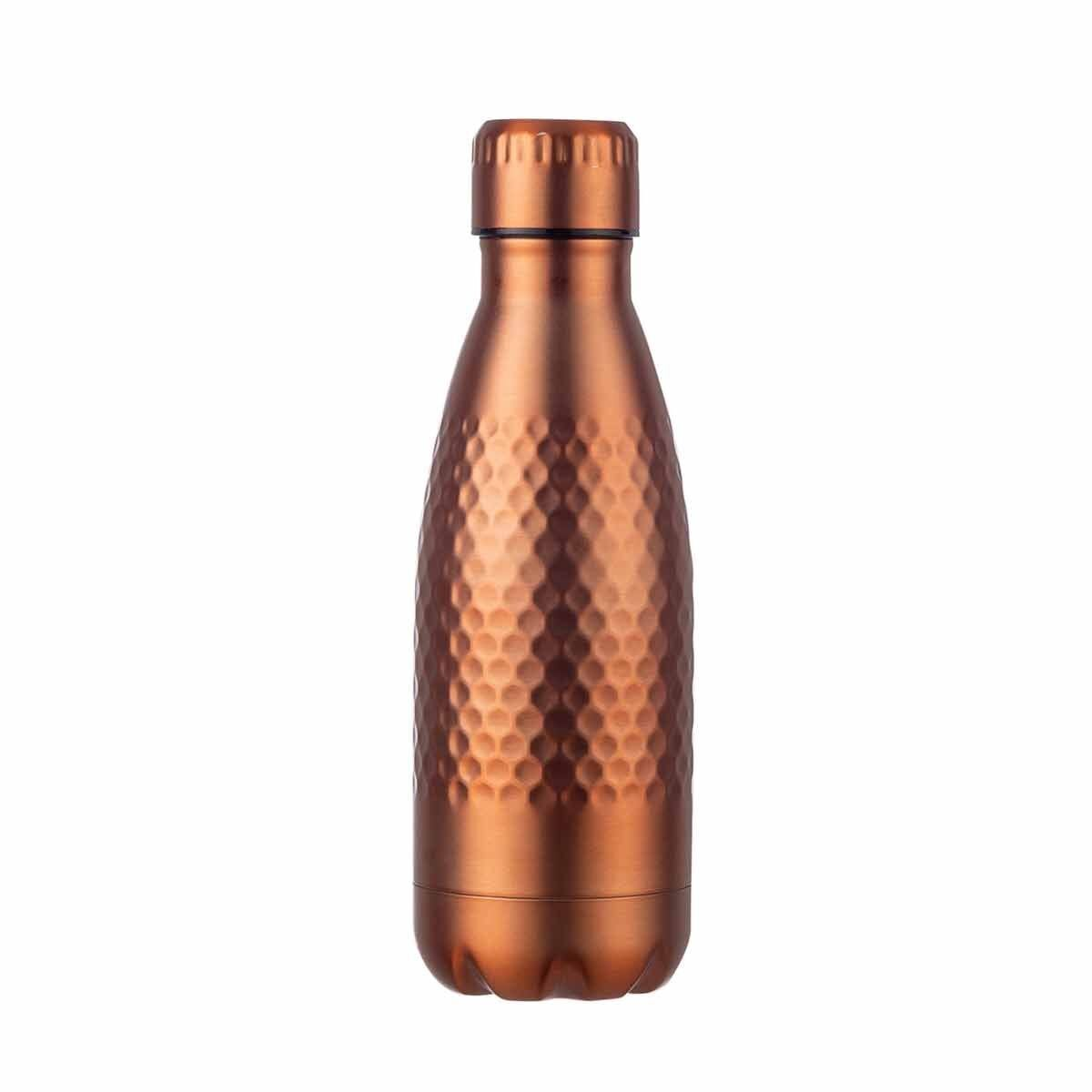 B and Co Honeycomb Stainless Steel Bottle 350ml Copper