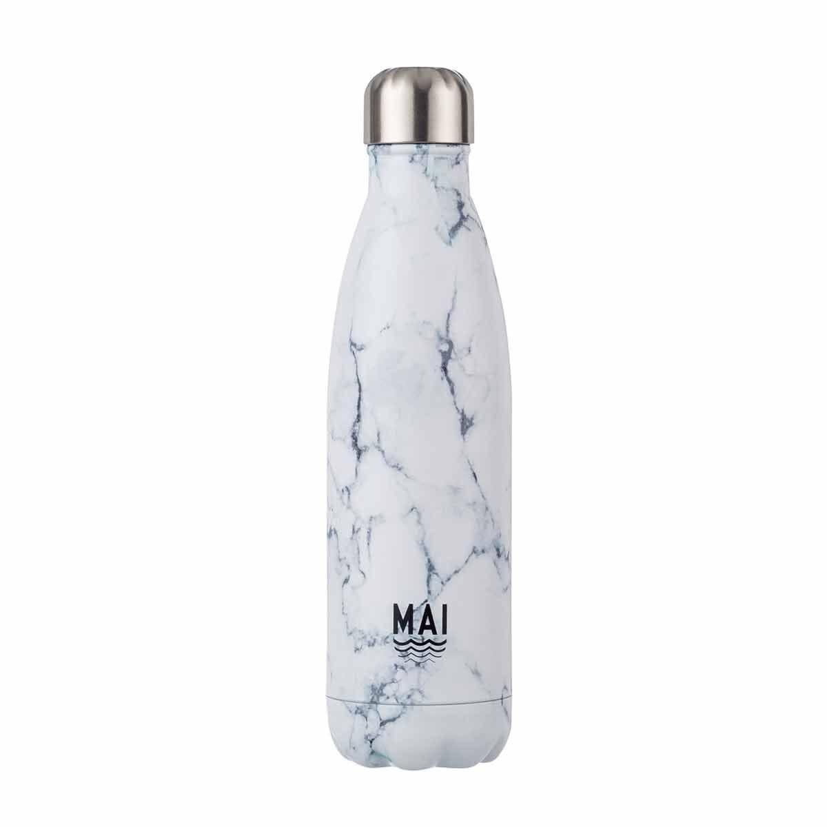 Mai Sport Stainless Steel Bottle Marble 500ml White Marble