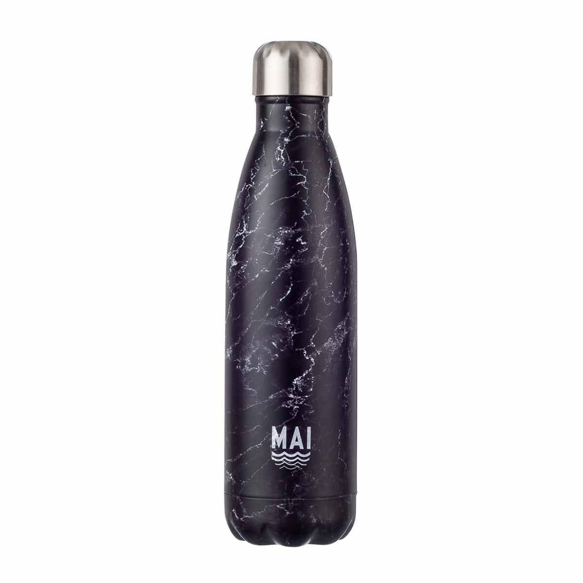 Mai Sport Stainless Steel Bottle Marble 500ml Black Marble