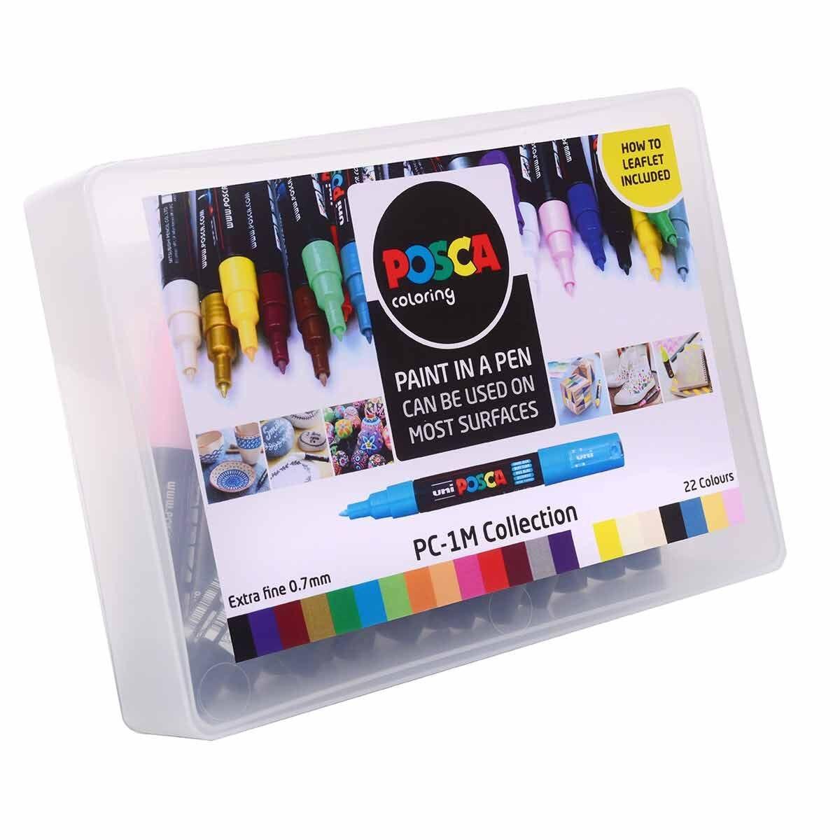 Uni Posca Marker Extra Fine Tip PC-1M Collection Box
