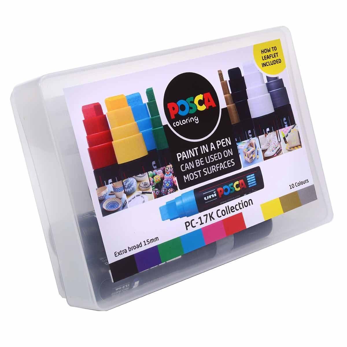 POSCA PC-17K 10 Colour Collection Box