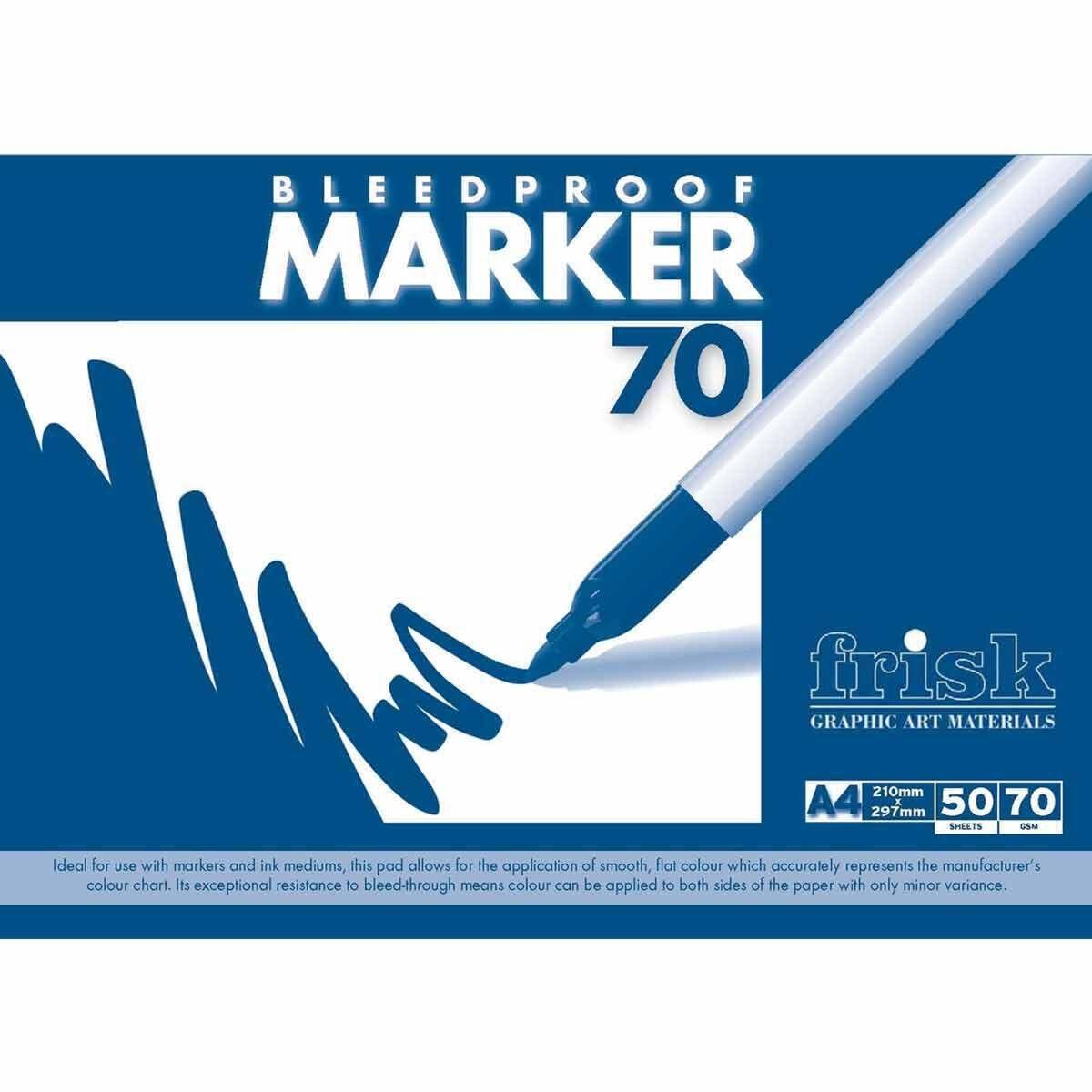 Frisk Bleedproof Marker Pad A4 70gsm 50 Sheets