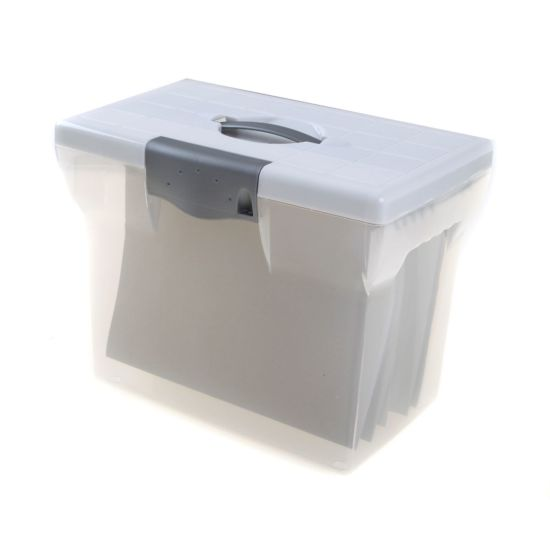 Pierre Henry File Box A4 + 5 Suspension Files Clear