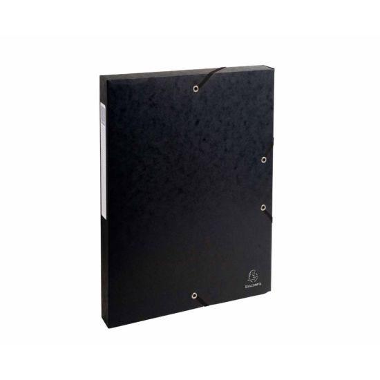 Exacompta Box File A4 25mm Pack of 8 Black