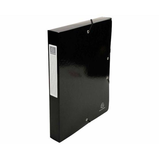 Exacompta Iderama Elasticated A4 Box File 40mm Pack of 8 Black
