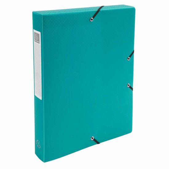 Exacompta Elasticated Polypropylene Box File A4 40mm Pack of 8 Green