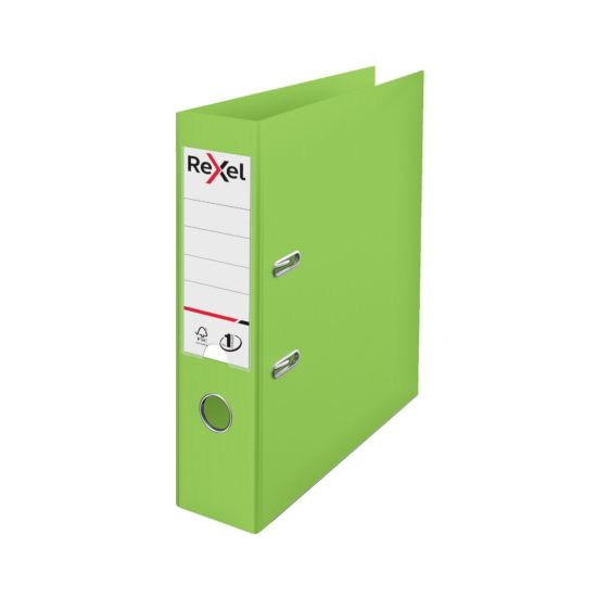 Rexel Choices Pack of 10 Polypropylene Lever Arch File A4 Green