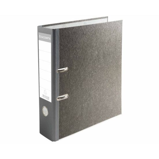 Exacompta PremTouch Lever Arch File A4 80mm Pack of 20 grey