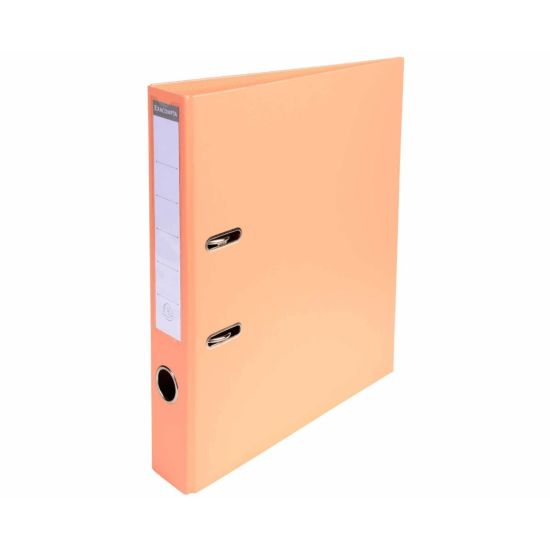 Exacompta PremTouch A4 Lever Arch File 50mm Pack of 10 Salmon