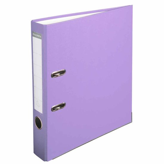 Exacompta Lever Arch File A4 PP 50mm Pack of 20 Lilac