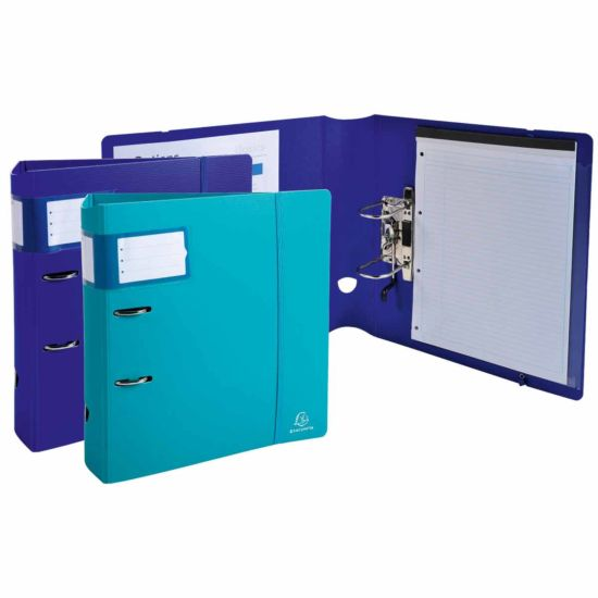 Exacompta Campus Light Lever Arch File A4 Plus PP 80mm Pack of 6 Assorted
