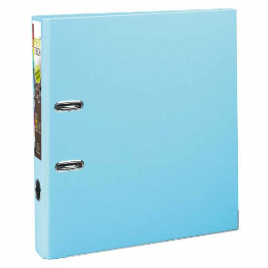 Exacompta PremTouch Lever Arch File A4 Plus PP 50mm Pack of 10 Light Blue