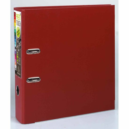 Exacompta PremTouch Lever Arch File A4 Plus PP 80mm Pack of 10 Burgundy