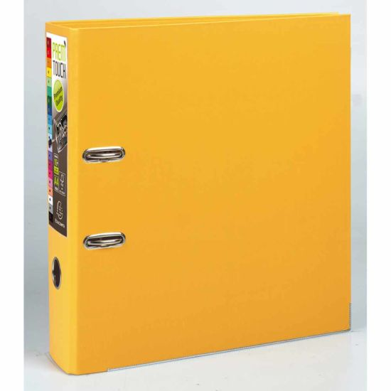 Exacompta PremTouch Lever Arch File A4 Plus PP 80mm Pack of 10 Yellow
