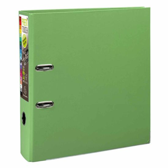 Exacompta PremTouch Lever Arch File A4 Plus PP 80mm Pack of 10 Lime