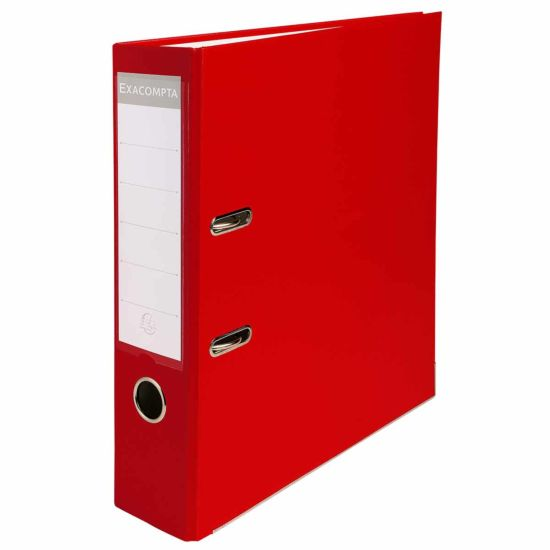 Exacompta Lever Arch File A4 PP 80mm Pack of 20 Red