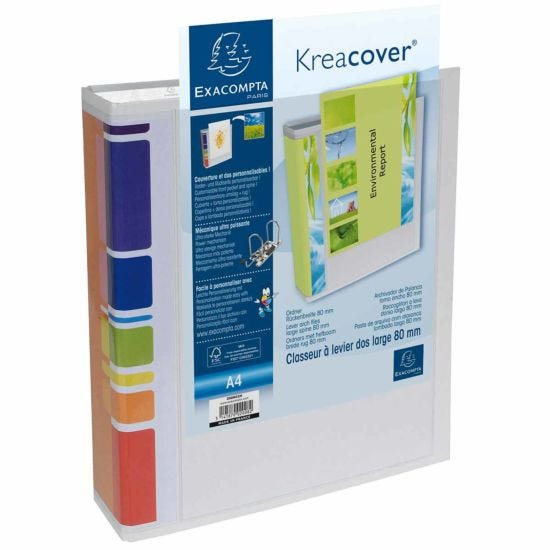Exacompta Kreacover PremTouch Lever Arch File A4 80mm Pack of 10