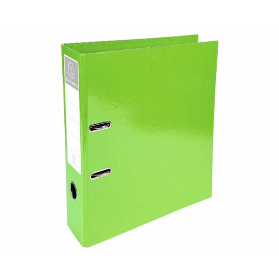 Exacompta Iderama PremTouch Lever Arch File A4 70mm Pack of 10 Lime