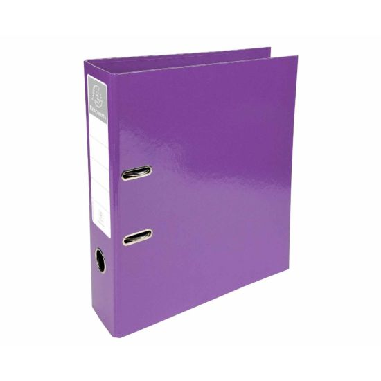 Exacompta Iderama PremTouch Lever Arch File A4 70mm Pack of 10 Purple