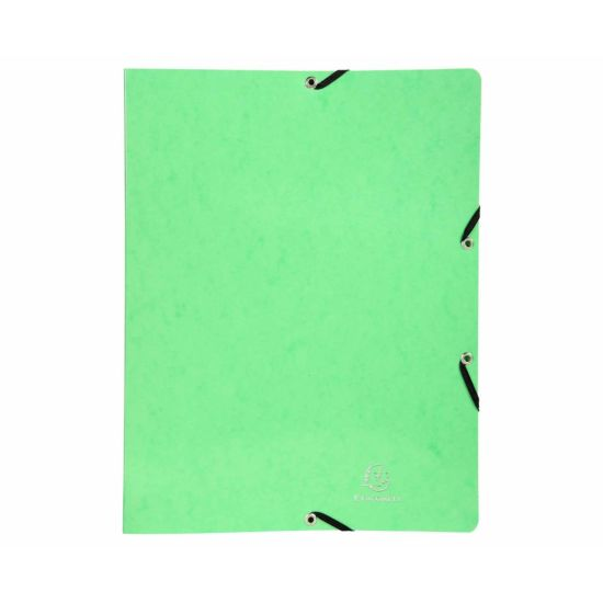 Exacompta Iderama Elasticated Ring Binder 2 Ring 15mm A4 Pack of 20 Lime