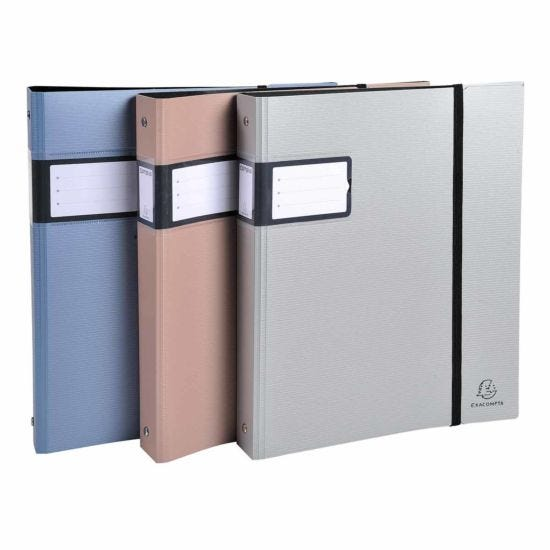 Exacompta Campus Metal Ring Binder 4 Ring 30mm A4 Plus Pack of 10 Assorted