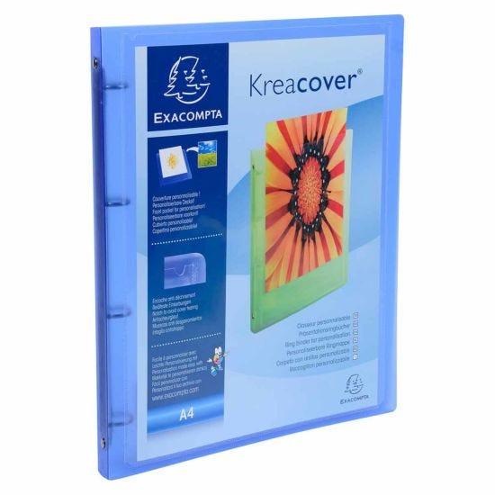 Exacompta Kreacover ChromaLine Ring Binder A4 4 Ring 15mm Pack of 12 Blue