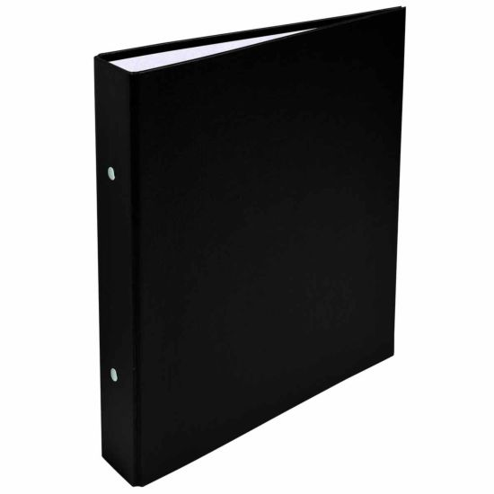 Exacompta Covered Card Ring Binder A5 2 Rings 25mm Pack of 20 Black