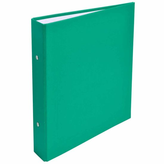 Exacompta Covered Card Ring Binder A5 2 Rings 25mm Pack of 20 Green