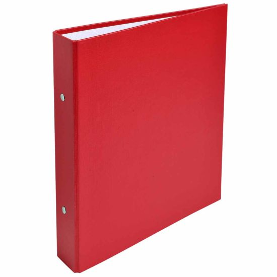 Exacompta Covered Card Ring Binder A5 2 Rings 25mm Pack of 20 Red