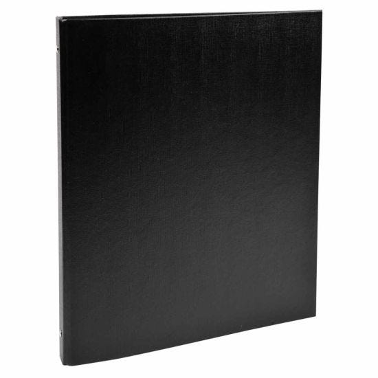 Exacompta Covered Card Ring Binder A4 4 Rings 15mm Pack of 20 Black
