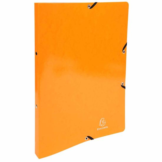 Exacompta Iderama Elasticated Ring Binder 2 Ring 15mm A4 Pack of 20 Orange