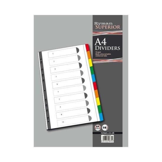Ryman Index 10 Part Divider A4