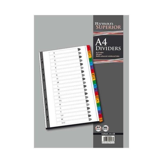 Ryman A to Z Dividers A4