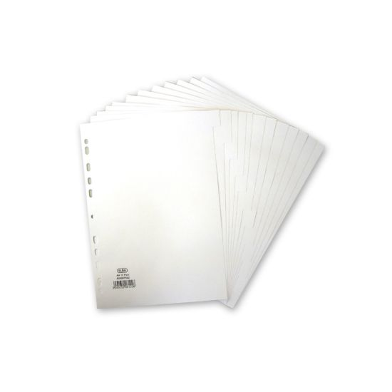 Elba 12 Part Dividers A4 White