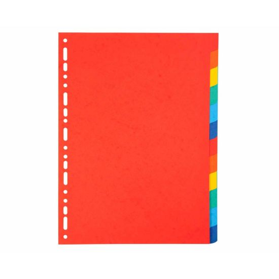 Exacompta Forever Dividers 12 Part A4 220gsm Pack of 25 Assorted