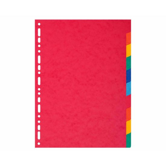 Exacompta Forever Dividers 10 Part A4 Plus 220gsm Pack of 25