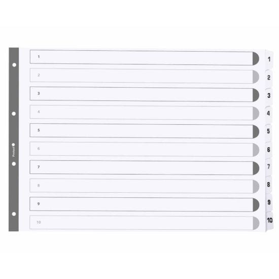 Exacompta Mylar Dividers 1-10 A3 160gsm Pack of 10