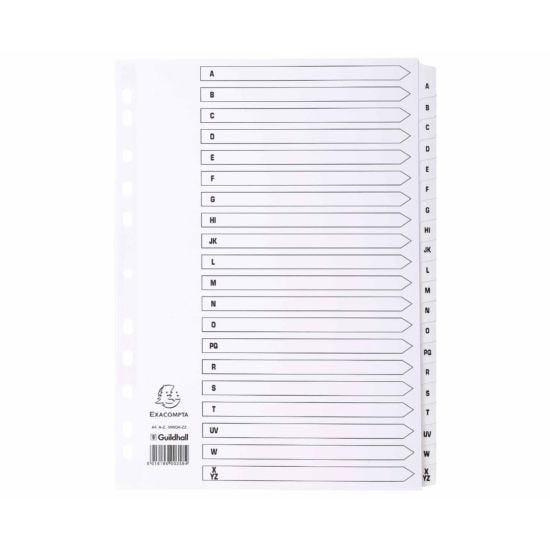 Exacompta Mylar Dividers A-Z A4 160gsm Pack of 10
