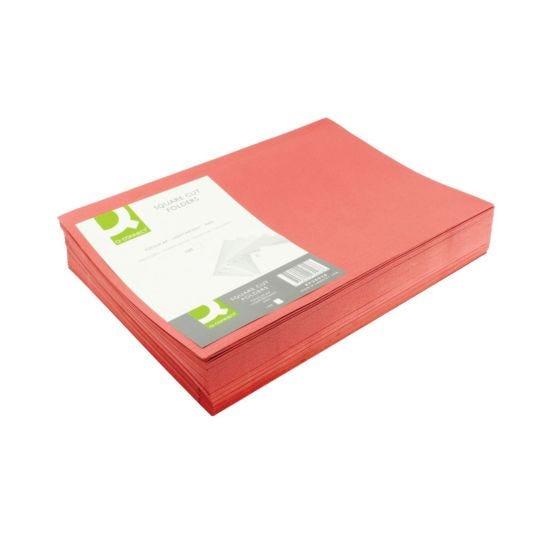 Square Cut Folder 180gsm Foolscap Red