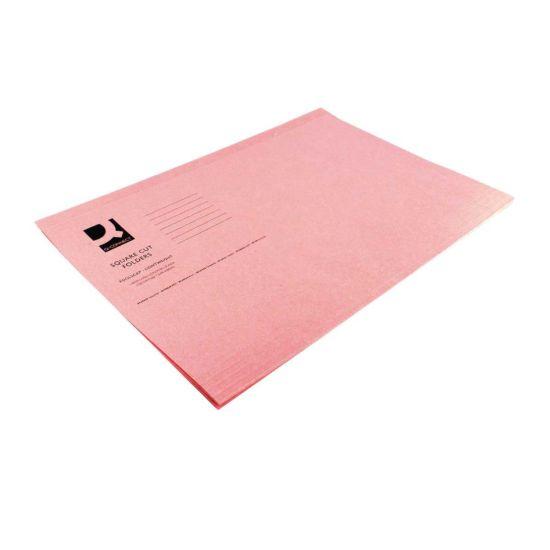 Square Cut Folder 180gsm Foolscap Pink