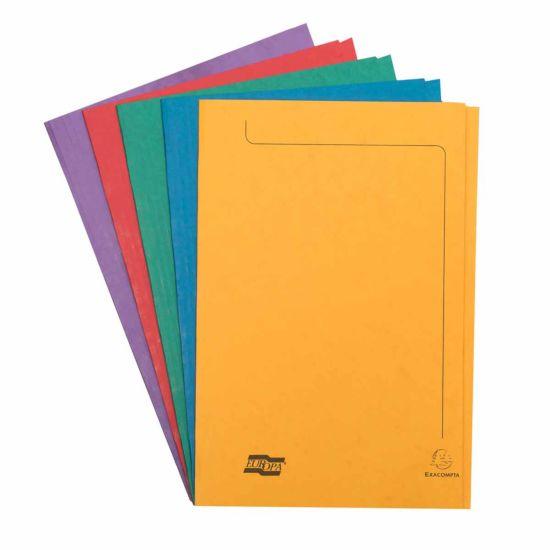Exacompta Europa Folder A4 Pack of 50 265gsm Assorted