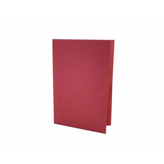 Exacompta Foolscap Folder Pack of 100 180gsm Red