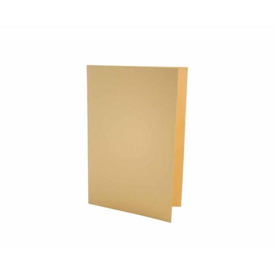 Exacompta Foolscap Folder Pack of 100 180gsm Yellow