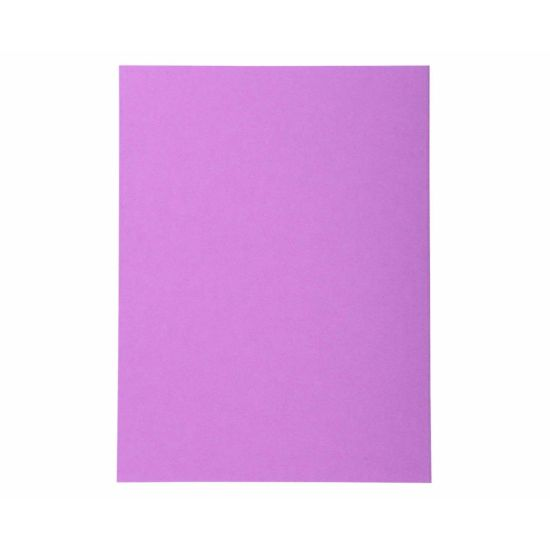 Exacompta Forever Folders Square Cut A4 5 Packs of 100 Purple