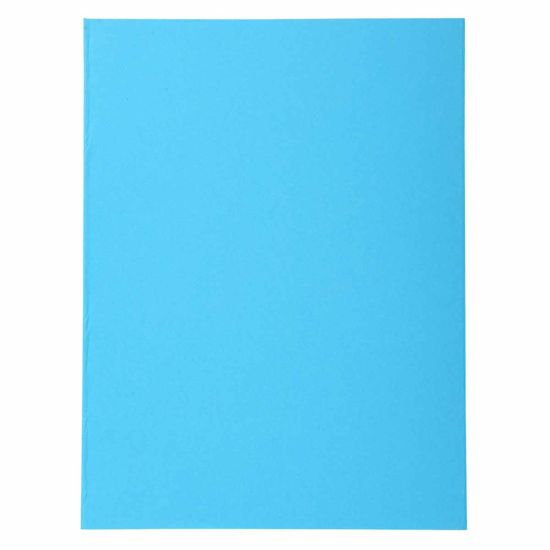 Exacompta Forever Square Cut Folders A4 170gsm 5 Packs of 100 Bright Blue