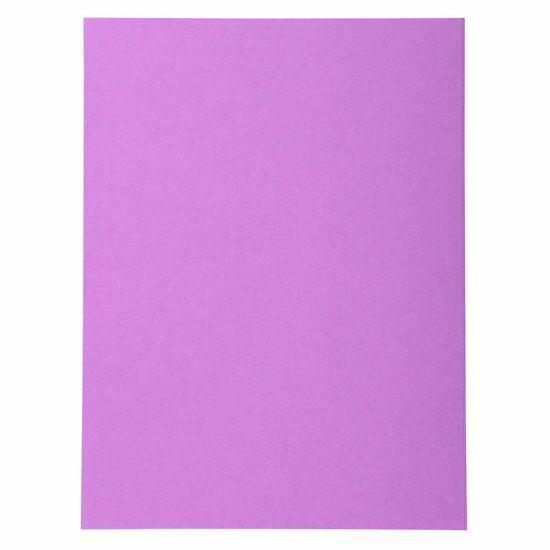 Exacompta Forever Square Cut Folders A4 170gsm 5 Packs of 100 Lilac