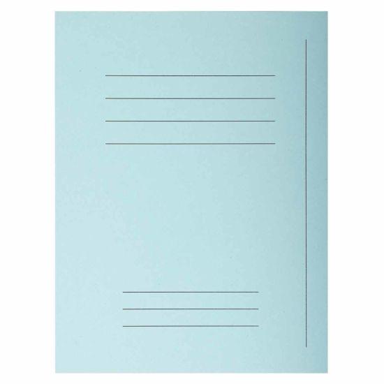 Exacompta Forever Square Cut Folders Printed Pack of 250 Light Blue